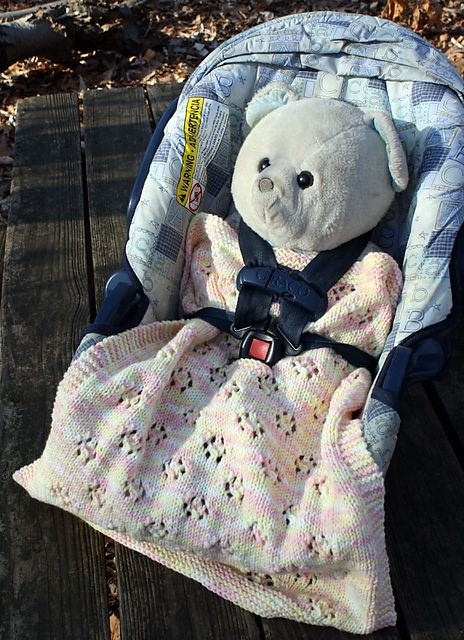 Two Infant Car Seat Blankets To Knit Pattern By Mary Beth Temple