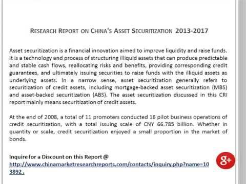 Research Report on China Asset Securitization Market 2013-2017