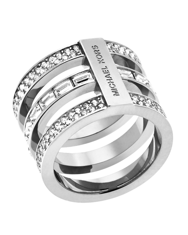 Michael Kors Pavé Baguette Barrel Ring