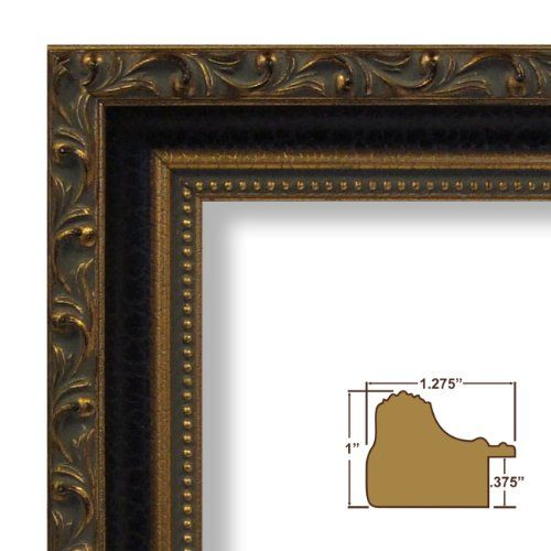 24x32 Picture Poster Frame Ornate Finish 126 Wide Aged Gold and ...