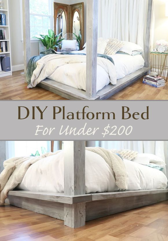 DIY Platform Bed for Under $200 is part of Diy platform bed - DIY Platform Bed for Under $200 Sometimes good parents make bad judgment calls  This platform bed (and the Instrucable you are reading) is a result of one of those moments  We had our second child, fifteen YEARS after the first  For those who don't know, new baby   visitors  Lot