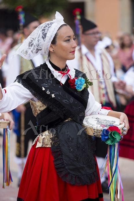 Traditional fiesta at Villaviciosa in Asturias, Northern Spain