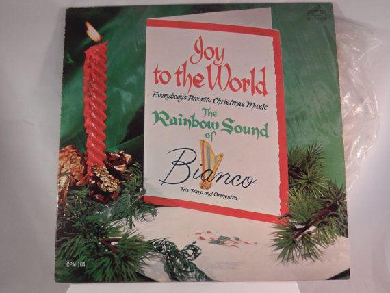 BIANCO Joy To The World The Rainbow Sound Harp and by DOINGITSOBER #vintagechristmas #christmas ...