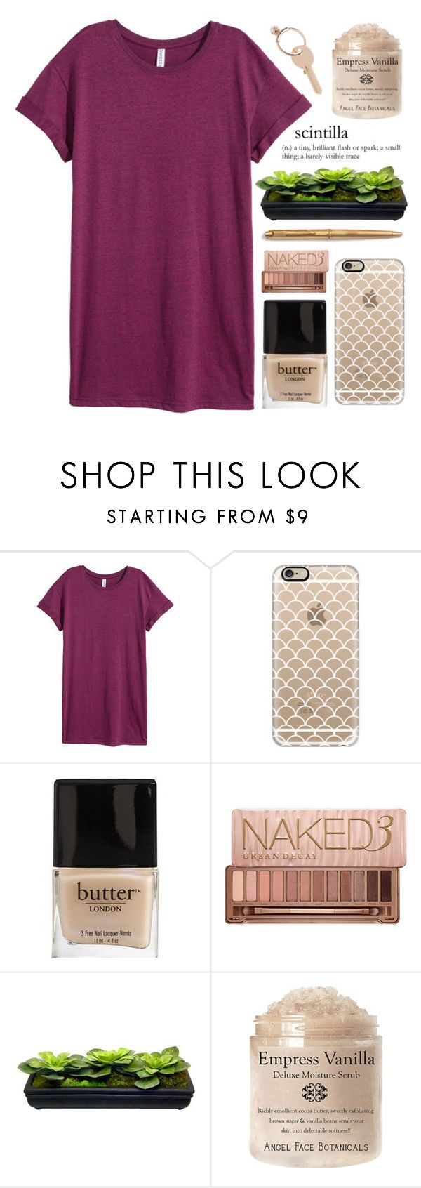 """""""1O3 ; i'm back!"""" by faith-and-metanoia ❤ liked on Polyvore featuring H&M, Casetify, Butter London, Urban Decay and Maison Margiela"""