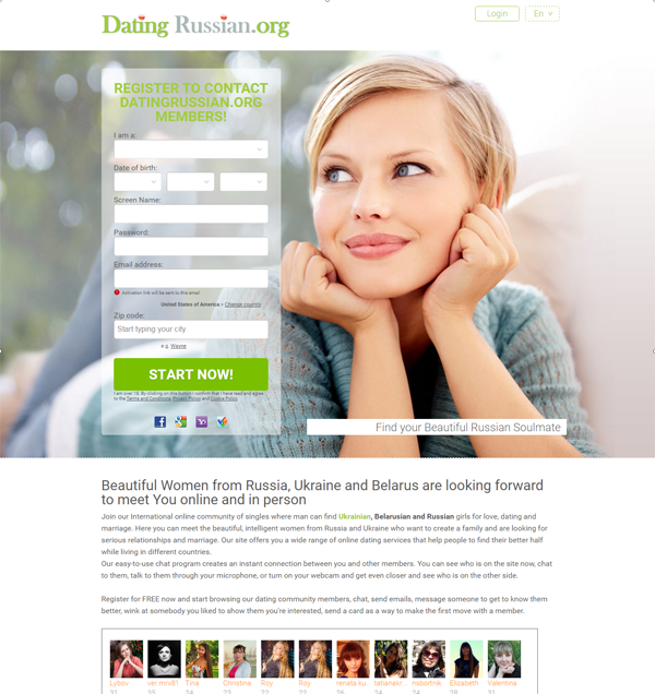 Online community dating site