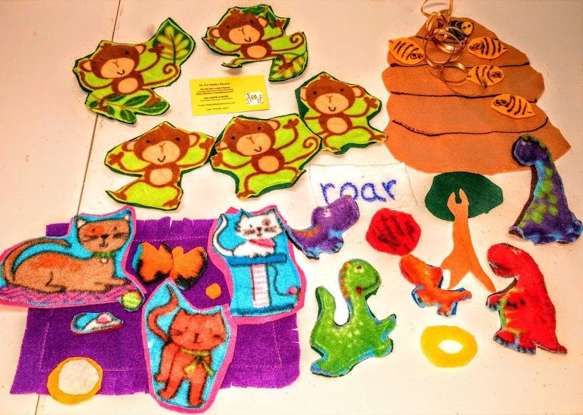Bargain Buy Felt Manipulative Set: Bees, Dinosuars: Kittens and Monkeys, OH MY!