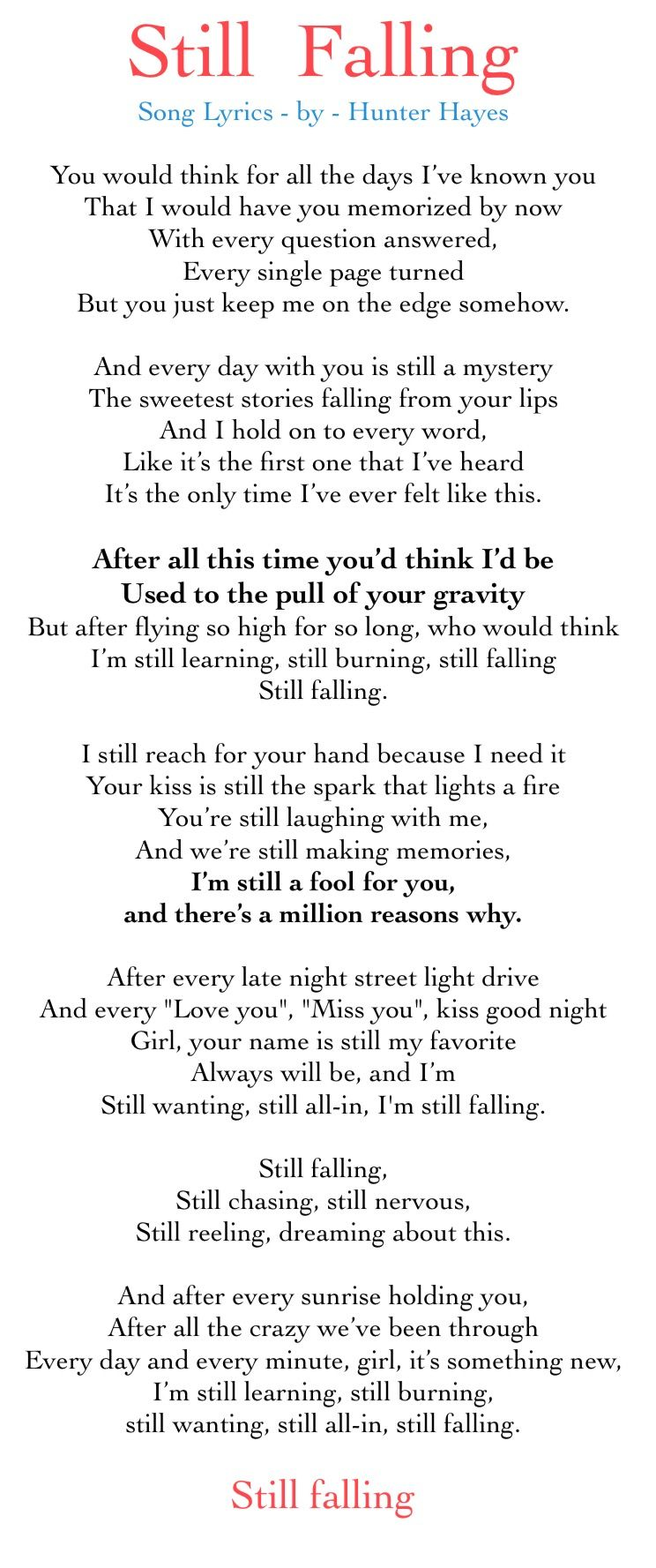 Lyrics to the song \