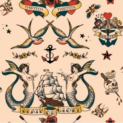 Sailor Tattoo Pattern Piel Shoppiel Inspiration Sailor