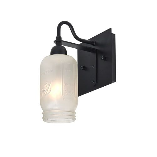 Besa lighting milo black one light wall sconce with white frost besa lighting milo black one light wall sconce with white frost shade on sale aloadofball Image collections