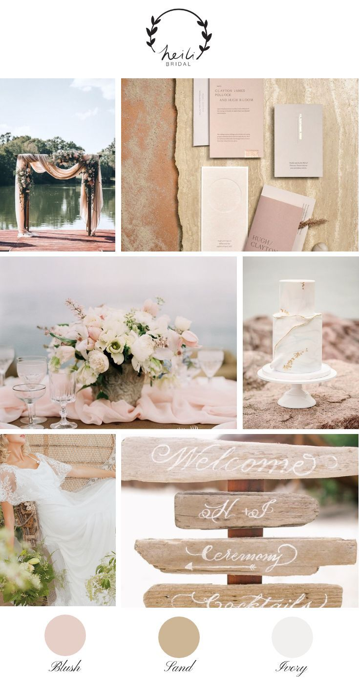 Photo of Blush Beach Wedding – Inspiración de boda costera con rubor y arena | Heili Bridal