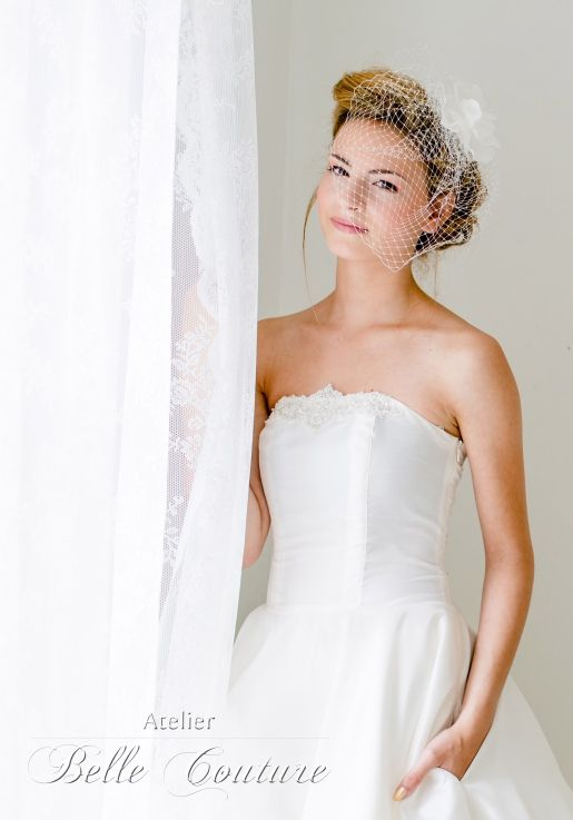 schlichtes Brautkleid im 50er Jahre Stil | Pinterest