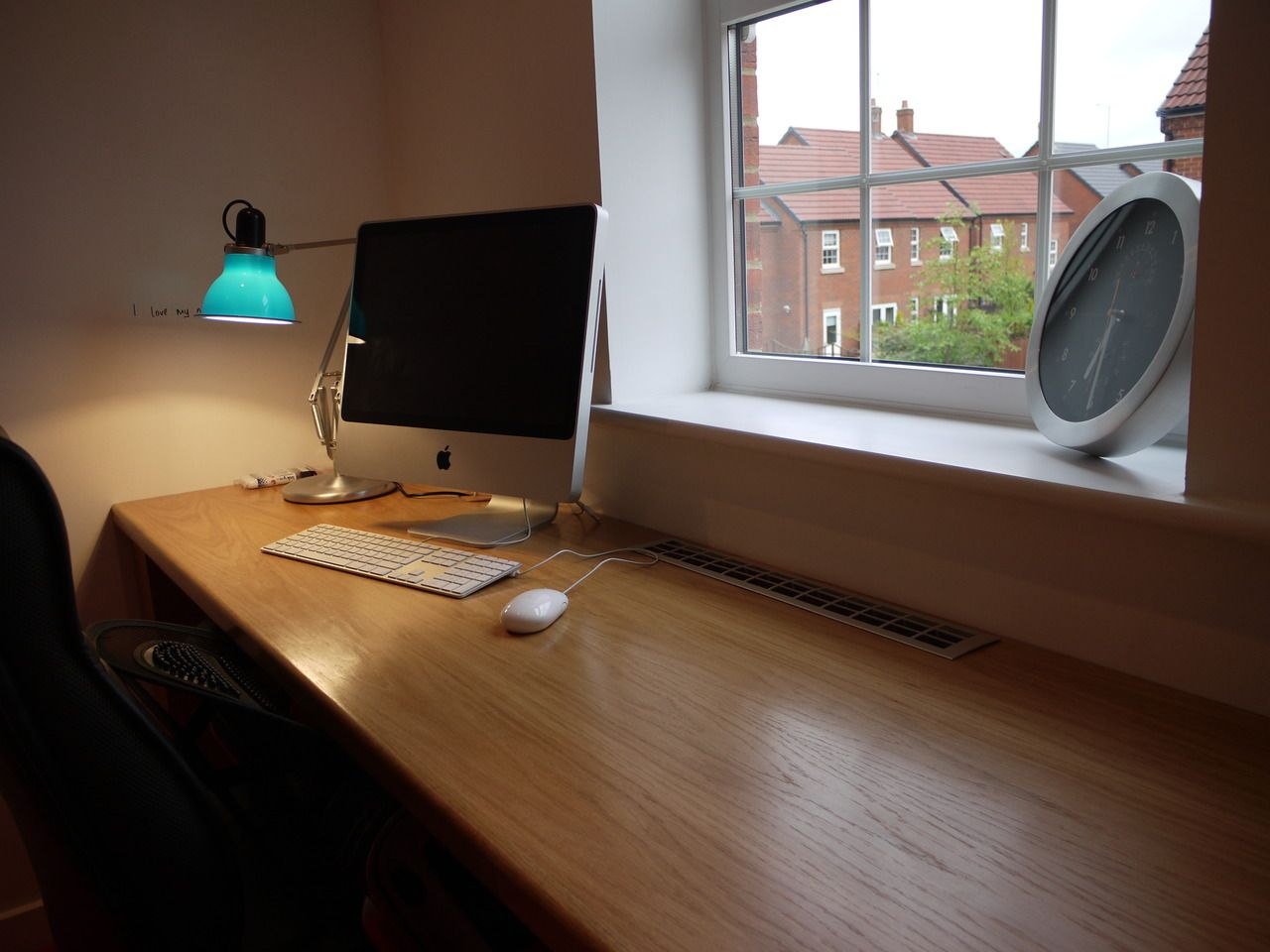 good looking designs of computer table for home. Furniture Good Looking Long Desk Design Inspiration With Beautiful Blue Cup  Lamp And Comfortable Black Office Chair Also Wonderful White Window This desk is submitted by user csouthey Anglepoise lamp Habitat