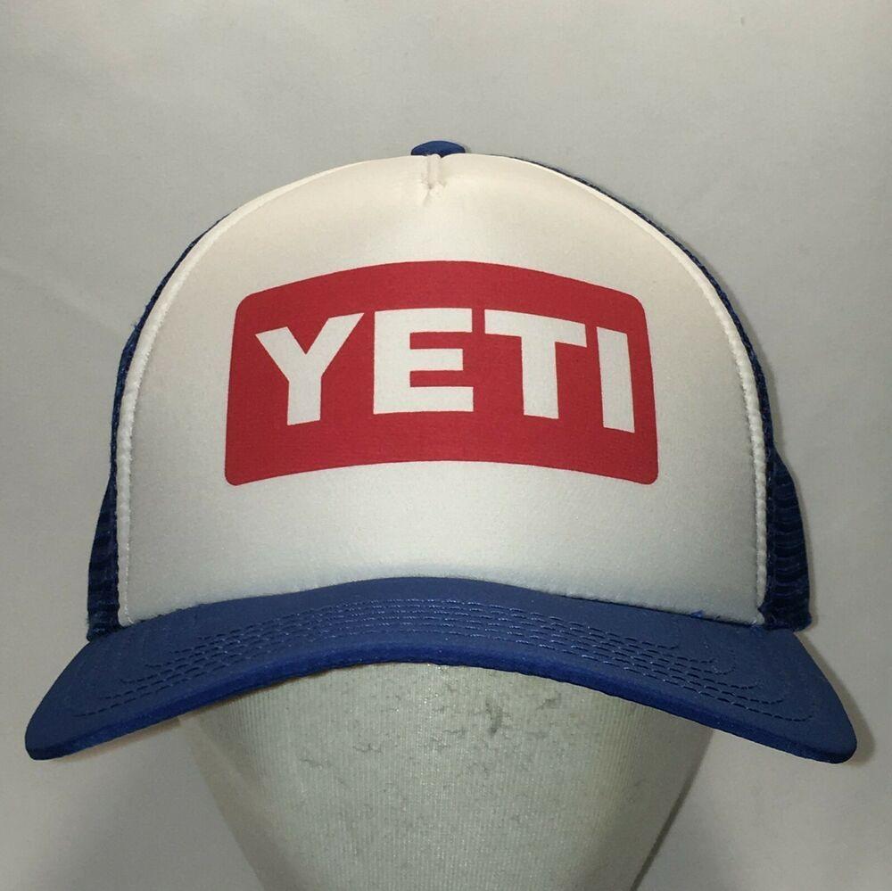 ff3d1747f6926 Yeti Coolers Trucker Hat Blue White Mesh Snapback Dad Hats Mens Caps T8  F9006  YetiCoolers  TruckerHat  Yeti  YetiHats  TruckerHats  Snapback   SnapbackCap ...