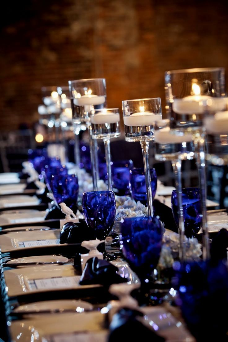 Blue Royal and silver wedding ideas exclusive photo