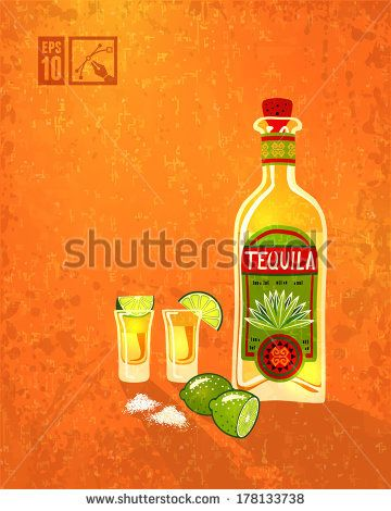 Tequila & Lime. Vector illustration, eps10, editable. by mything, via Shutterstock