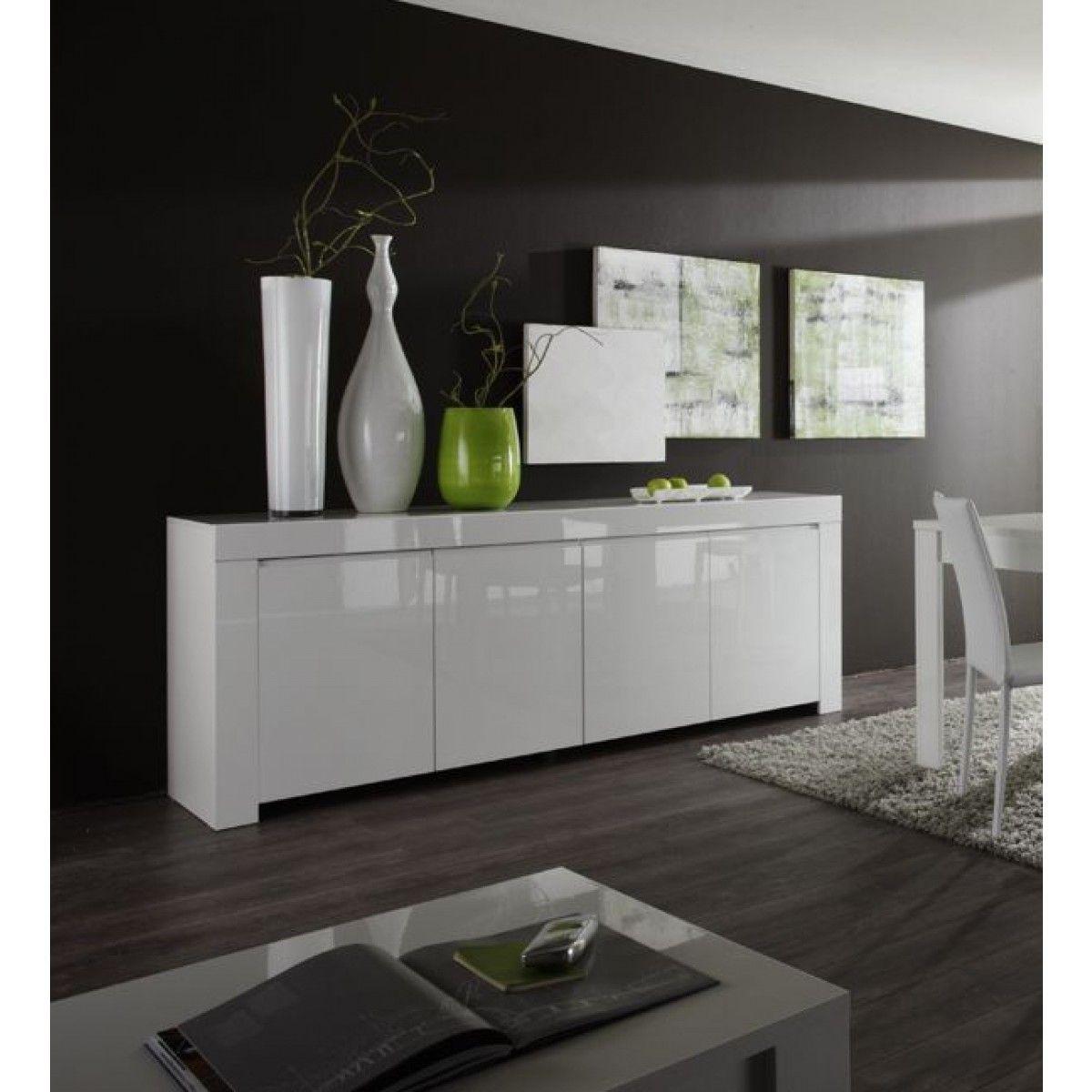 Buffet laqué blanc 4 portes Amalfi | Interieur | Pinterest ...