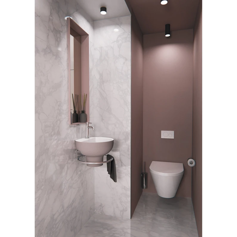Lave Mains Osaka Solid Surface Rond Beige L 32 5 X P 30 Cm Decotec En 2020 Lave Solid Surface Et Lave Main