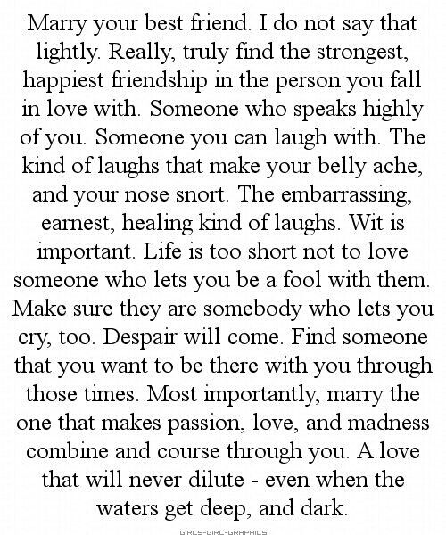 Married My Best Friend Hubster Pinterest Love Quotes Best