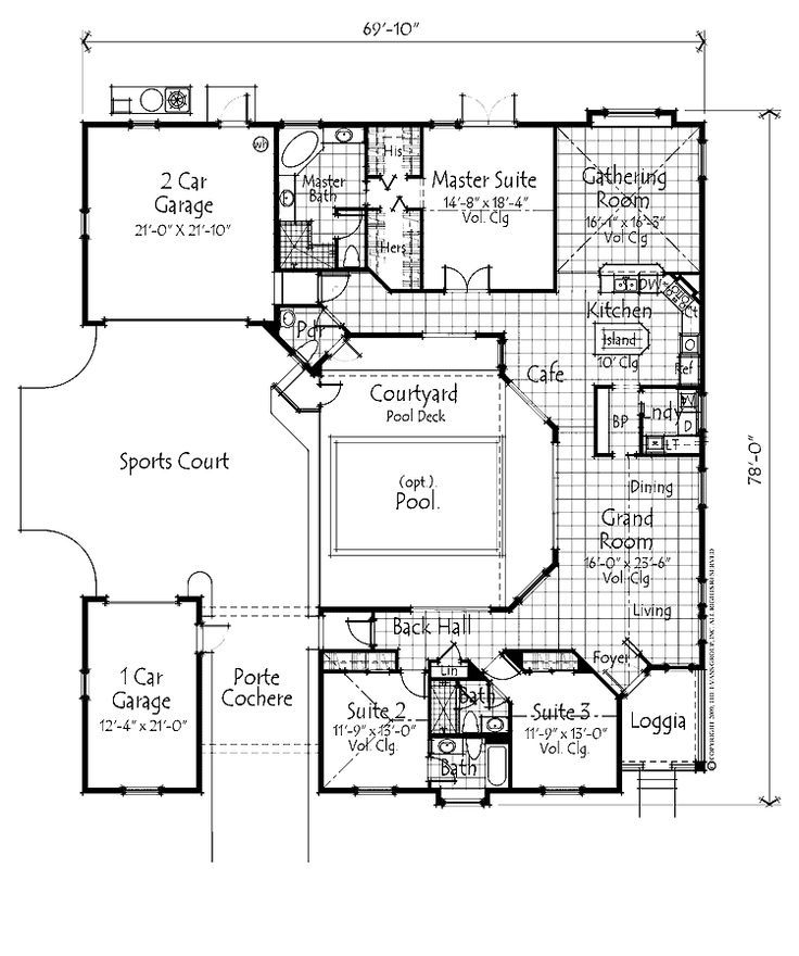 3 bed, 2-1/2 bath with porte cochere and quilting studio on ... Narrow Lot House Plans With Porte Cochere on contemporary porte cochere, narrow lot house plans with loft, custom porte cochere, narrow lot house plans with pool, colonial porte cochere, narrow lot house plans with 3 car garage, narrow lot house plans with porch, hotel porte cochere,
