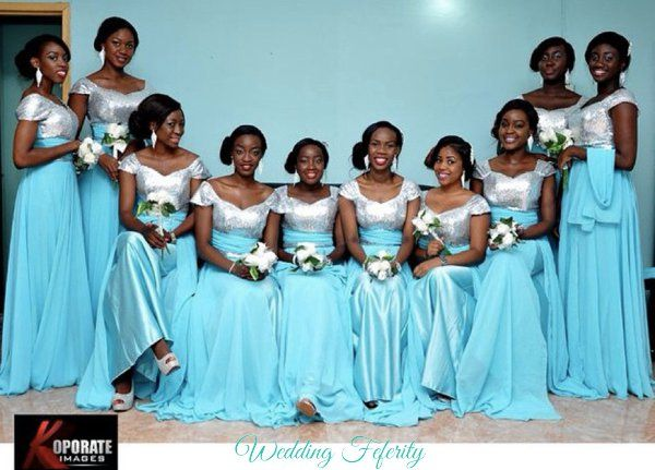 blue bridesmaids dresses for nigerian weddings nigerian