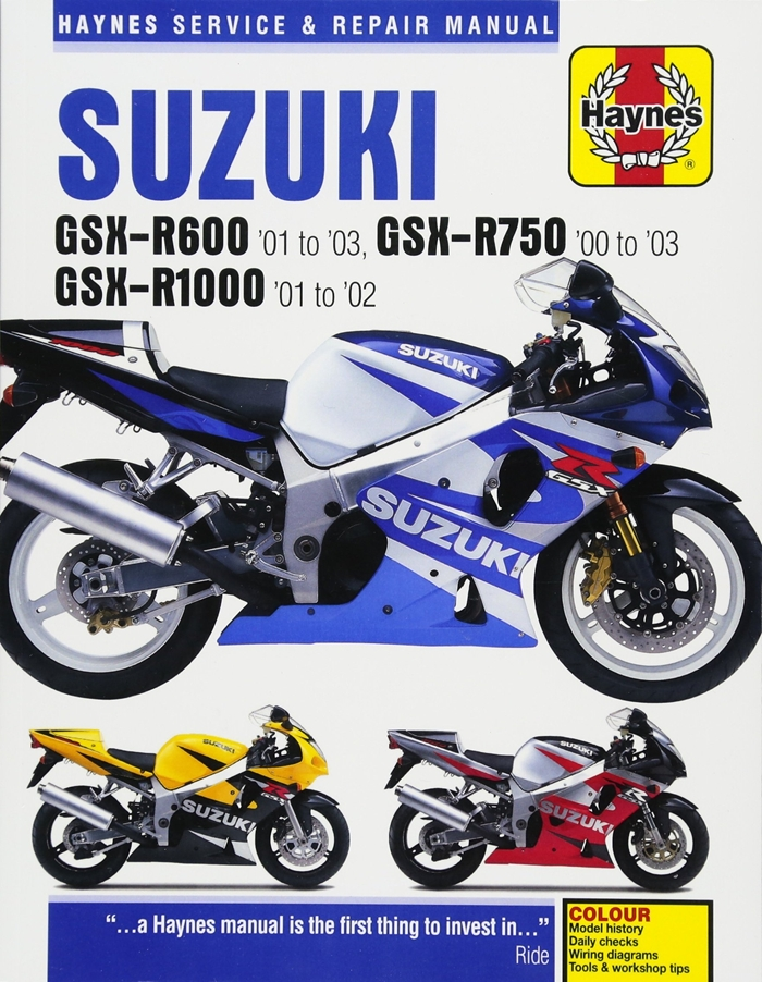 Suzuki Gsx R600 01 To 03 Gsx R750 00 To 03 Gsx R1000 01 To 02 Haynes Service Repair Manual By Editors Of Haynes Manuals Haynes Manuals N Americ In 2020 Suzuki Gsx Gsx Suzuki