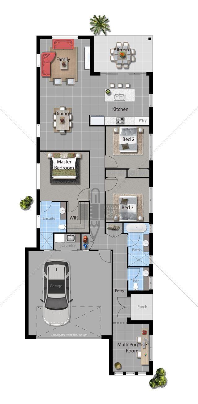Noho Contemporary 2014 Floor Plan Floor Plans Narrow House Plans House Floor Plans House Plans