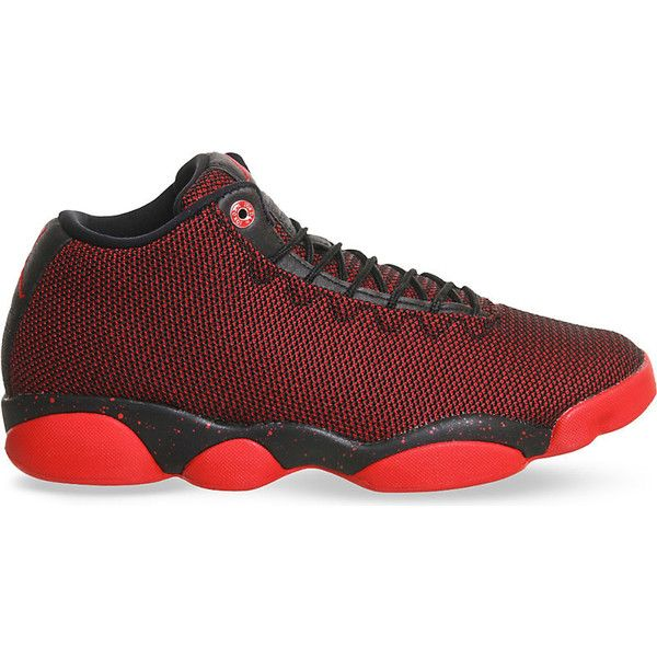 8b35eb9c6da Nike Jordan horizon low-top mesh trainers ($135) ❤ liked on Polyvore  featuring shoes, sneakers, nike trainers, red trainers, black shoes, woven  sneakers ...