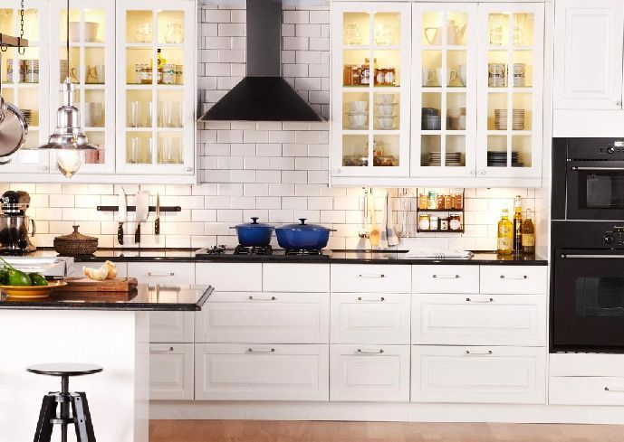 Download Wallpaper White Kitchen Cabinets At Ikea