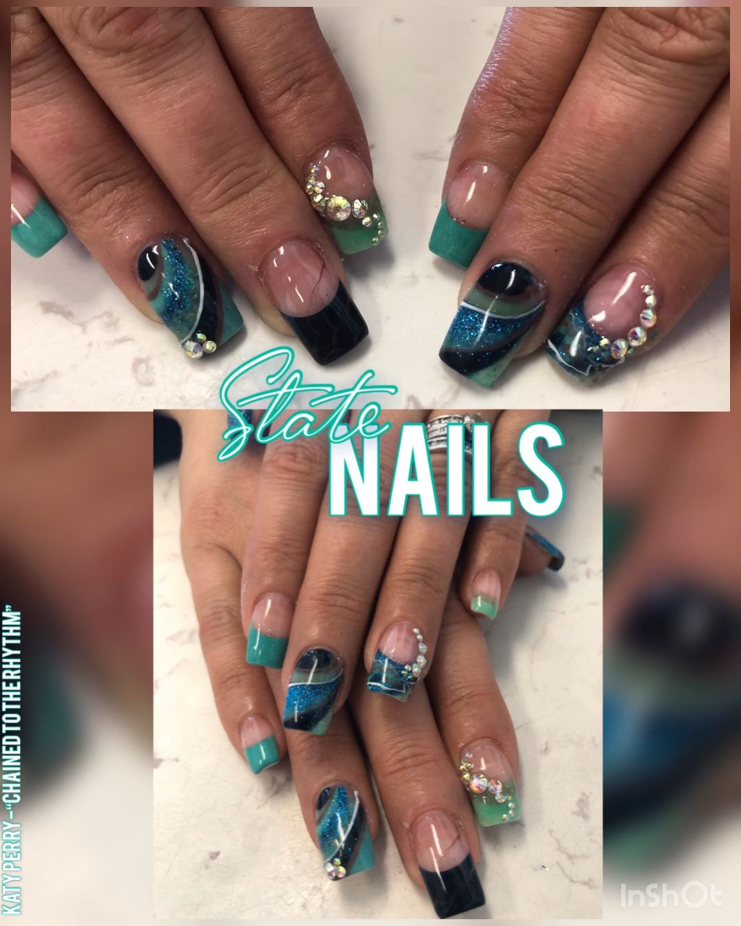 #StPatrick'sDay is some ways away but Are you ready to kick off the beautiful weather with some #color?! Break the winter gloom with some #green and #blue #naildesigns for #march !  #stpatricksday #stpatricksdaycrafts #marbledesign #marblenails #greennails #bluenails #acrylicnails #squarenails #longnails #frenchtipnaildesigns #stpattysday #stpattysdaynails