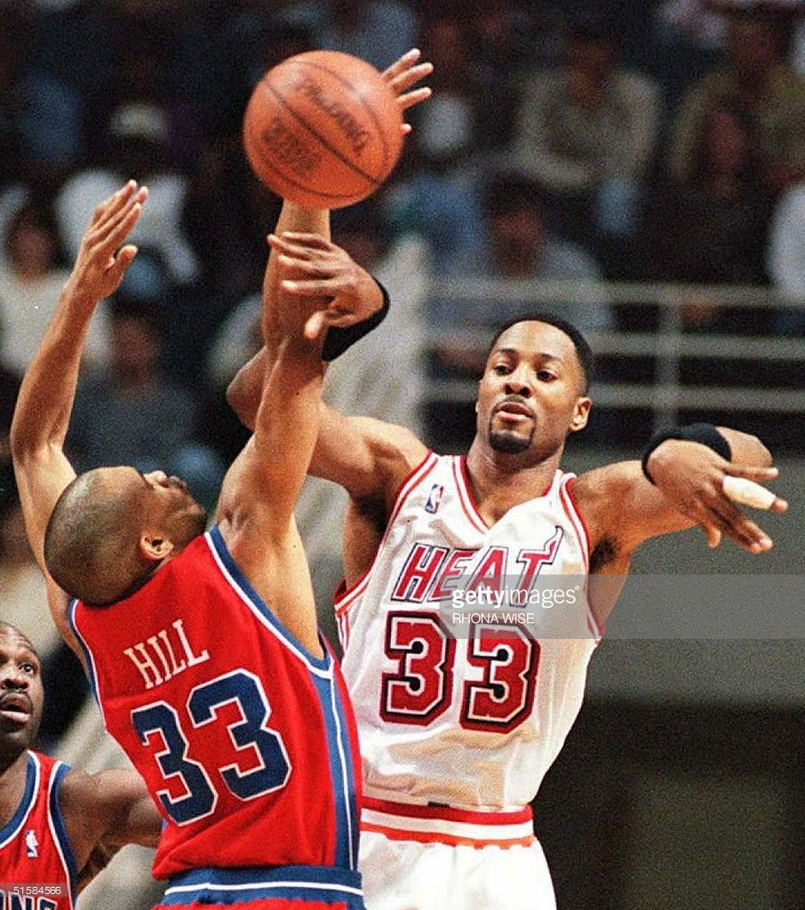 Grant Hill vs Alonzo Mourning Basketball Pinterest