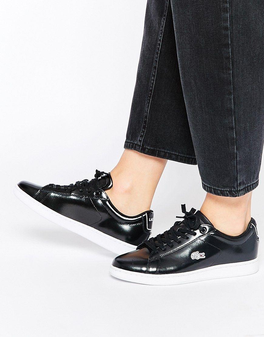 Image 1 - Lacoste - Carnaby Evo PRV - Baskets en cuir - Noir · Lacoste  SneakersLacoste Shoes WomenShoes SneakersLace Up ShoesBlack ...