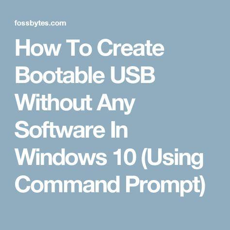 bootable usb windows 10 cmd