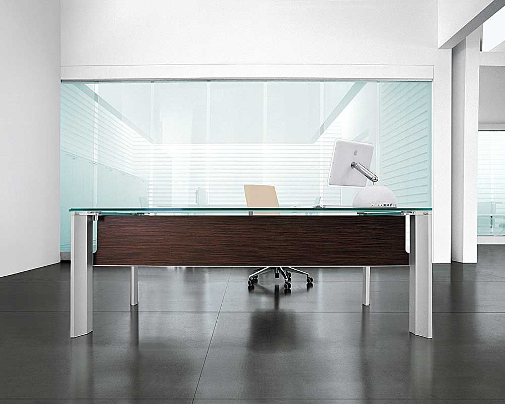 classy modern office desk home. Office \u0026 Workspace, Marvelous Modern Home Design Awesome Desks Wooden Accents Extraordinary Shaped And Glass Top With Advanced LED Monitor: Amazing Classy Desk F