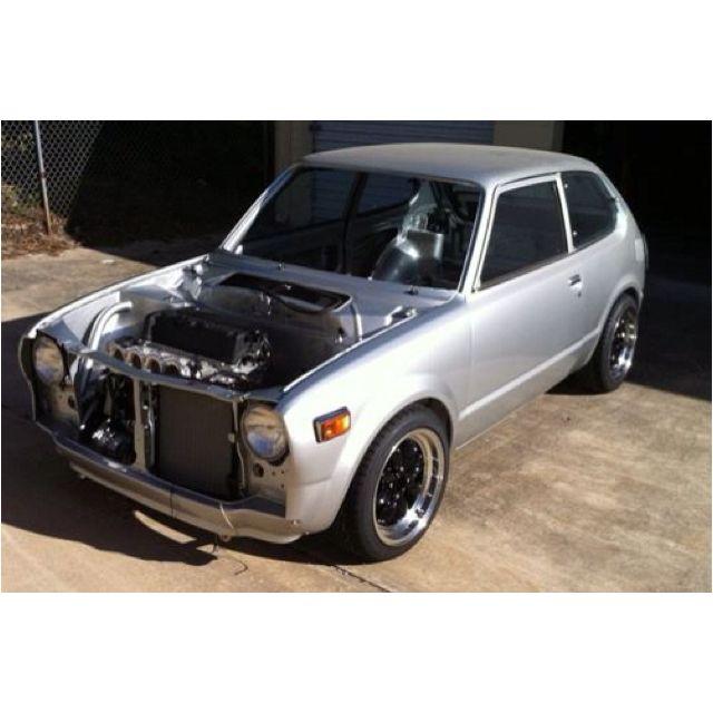 70's Civic with a K20 | Cars | Honda hatchback, Honda civic