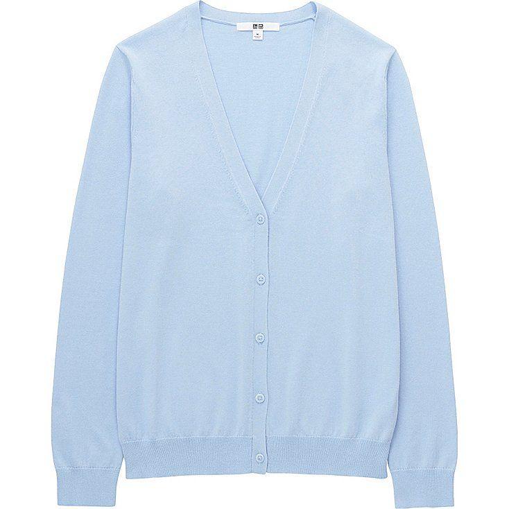 WOMEN Supima® COTTON V NECK CARDIGAN | V neck cardigan