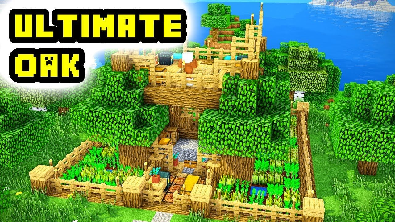 Minecraft Tutorial Ultimate Advanced Oak House Base How To Build