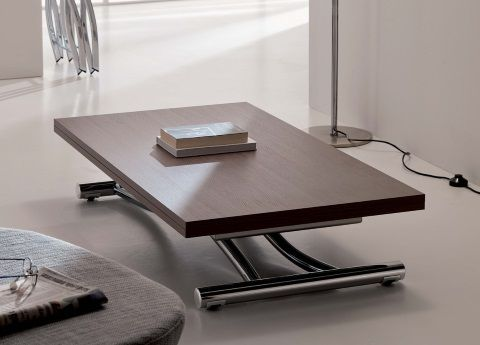 Magic By Ozzio Design.Ozzio Mondial Transformable Table In Wood Coffee Table To Dining