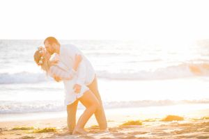 This engagement photo shoot by Jasmine Lee was full of creative touches, such as a beach teepee, and gorgeous photos of the bride-to-be and her horse.