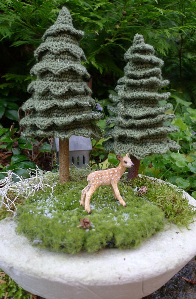 Tannenbaum gehäkelt, Weihnachtsbaum, Amigurumi, Mini-Landschaft ...