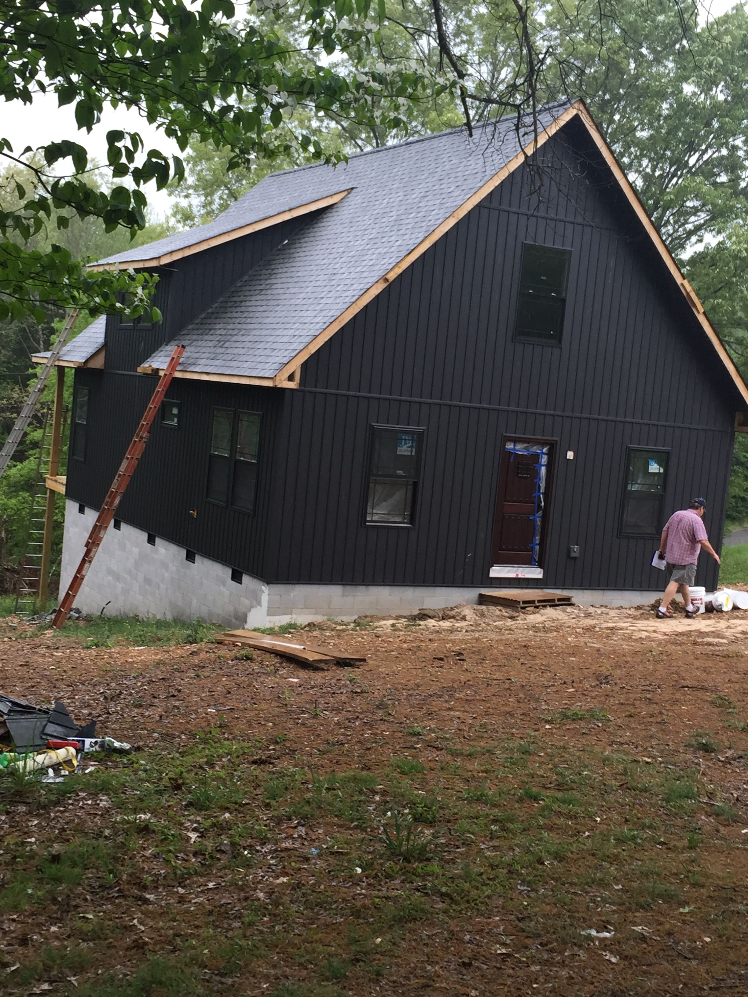 I Loved This Dark Gray Board And Batten Siding The Moment