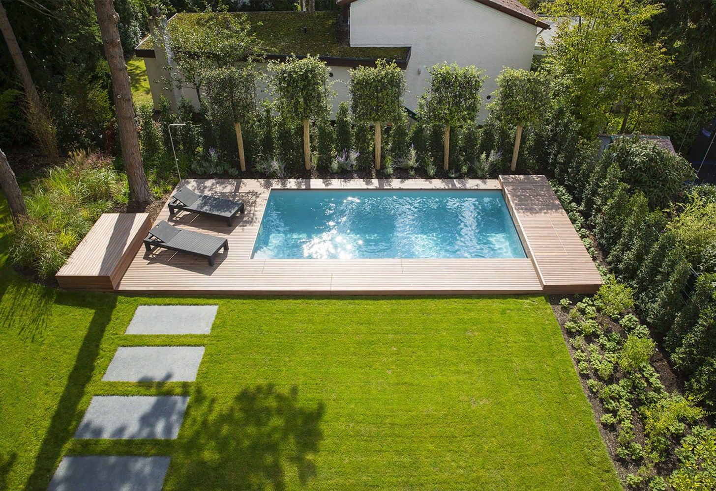 Pool in kleinem garten garten pinterest garten pool for Gartengestaltung mit pool