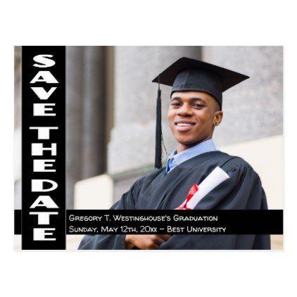 your senior portrait graduation save the date postcard graduation