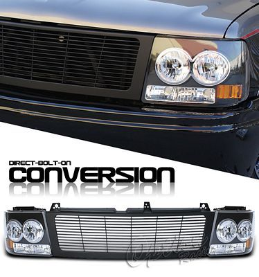 Chevy Tahoe 2000 2006 Black Billet Grille And Headlight Conversion Kit Chevy Tahoe Tahoe Chevrolet Tahoe