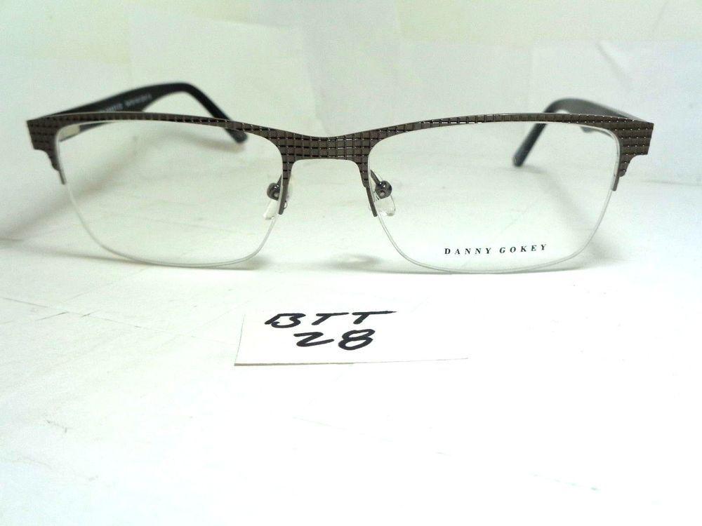 New DANNY GOKEY Eyeglass Frame #33 Grey Half Rim Gunmetal (BTT-28 ...
