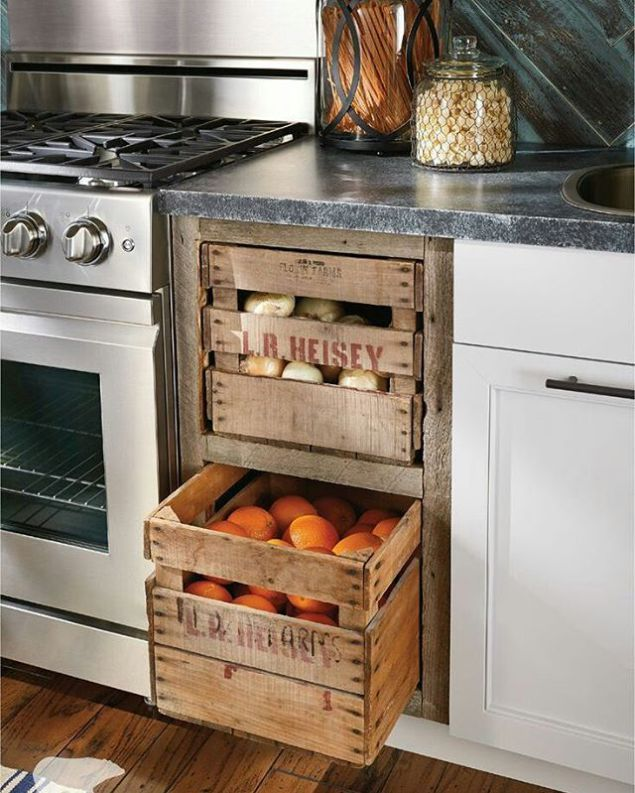Storage in the kitchen - this is what everyone thinks, even if the - küche selber bauen holz