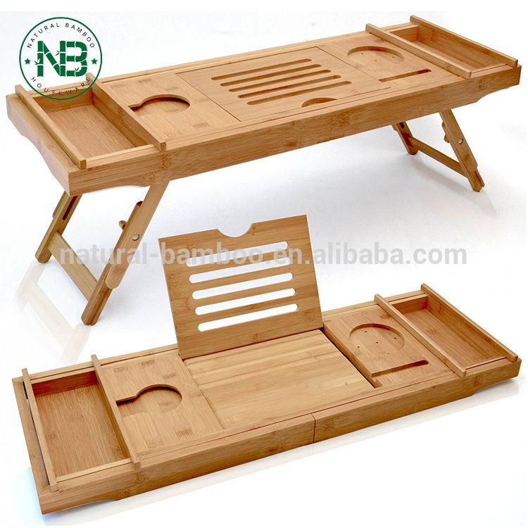 Bathtub Caddy and Laptop Bed Desk 2 In 1 Innovative Design ...