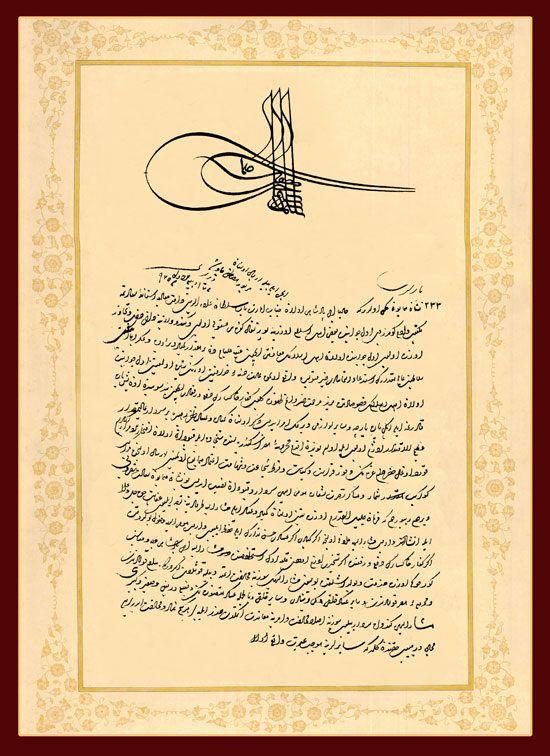 erlass des sultans
