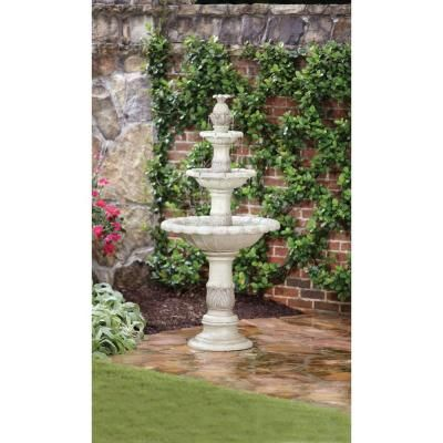 Hampton Bay 3 Tier Fountain 19348 at The Home Depot landscaping