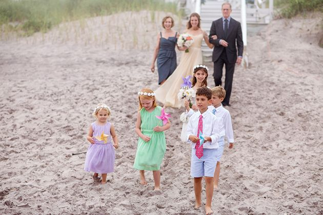 Toddlers coral dress shirt for beach wedding