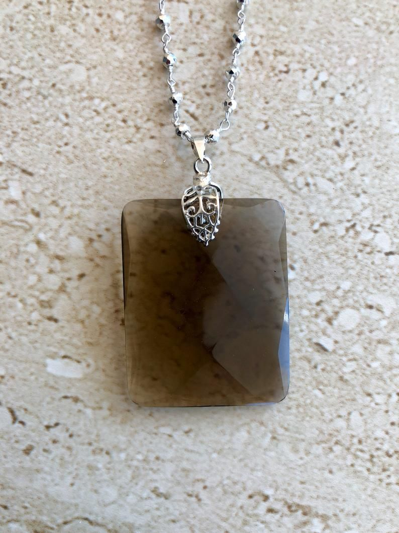 Smoky Quartz Necklace Smoky Quartz Pendant Smoky Quartz Jewelry #smokyquartz